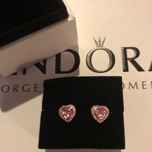 Jewelry - Pandora Rose Sparkling Love Earrings